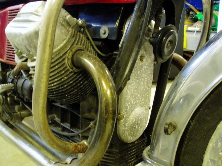 Utsnitt av motor.