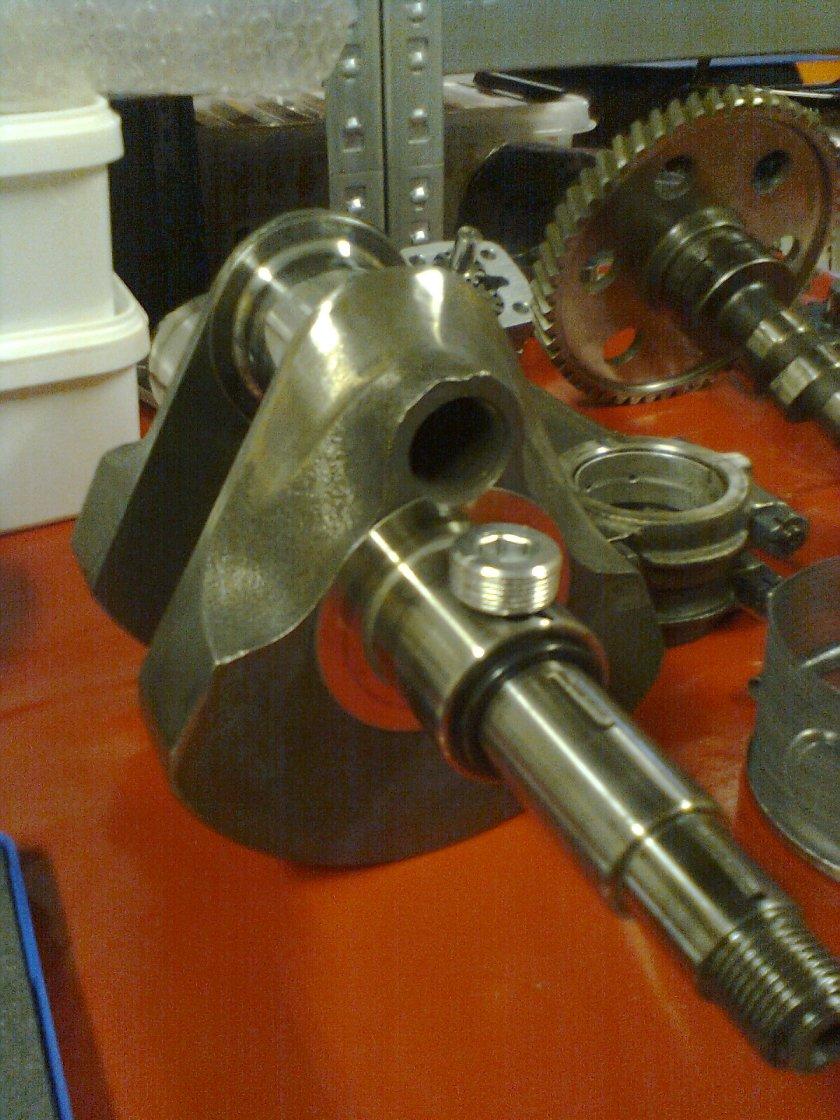 Manglende aluminiums-plugg. Foto: Rolf Halvorsen