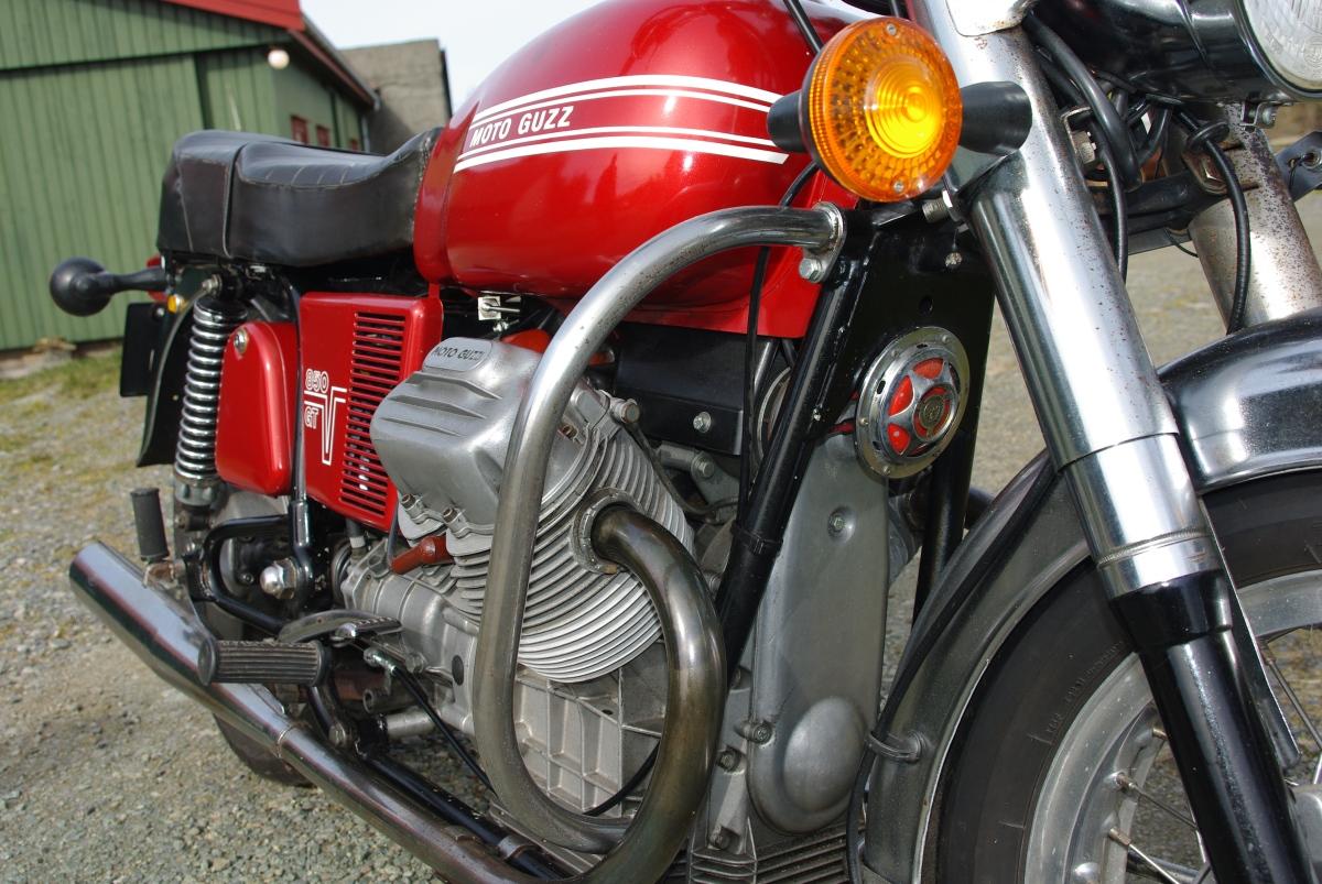 På besøk hos Moto Guzzi 850 GT 1973,Avaldsnes
