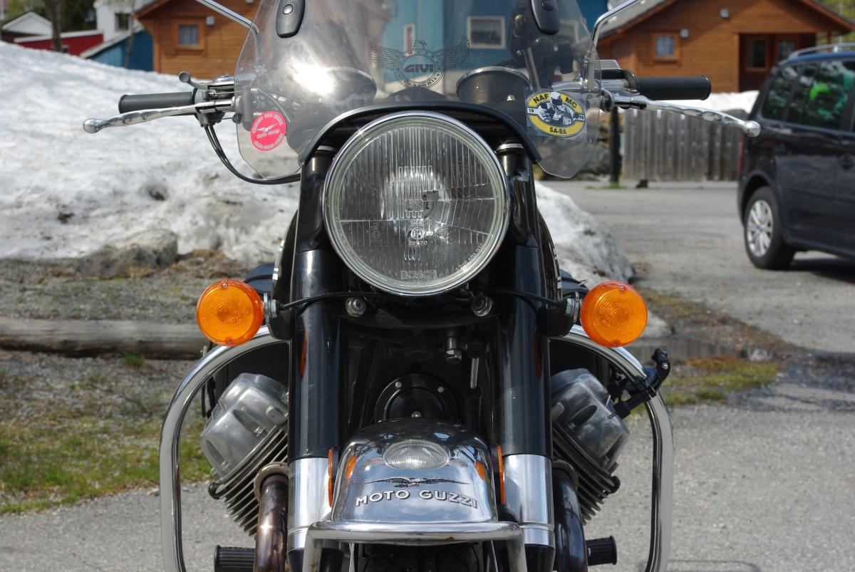 På besøk hos Moto Guzzi 850 GT 1973,Kråkerøy