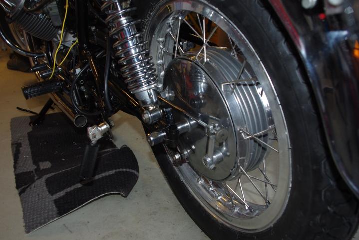 Hjulet er montert.